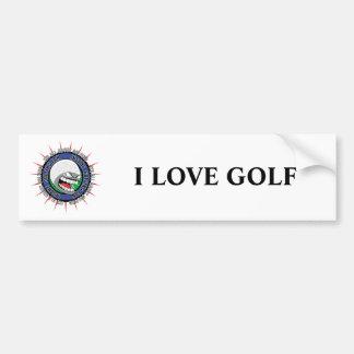 Fan Golfing insano Pegatina De Parachoque
