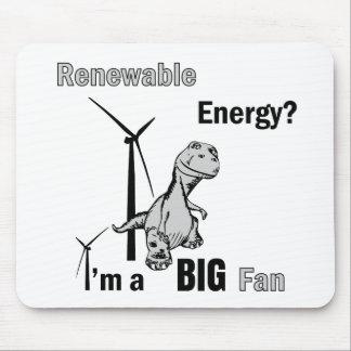 Fan grande de la energía renovable alfombrilla de raton