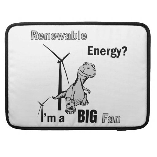 Fan grande de la energía renovable fundas macbook pro