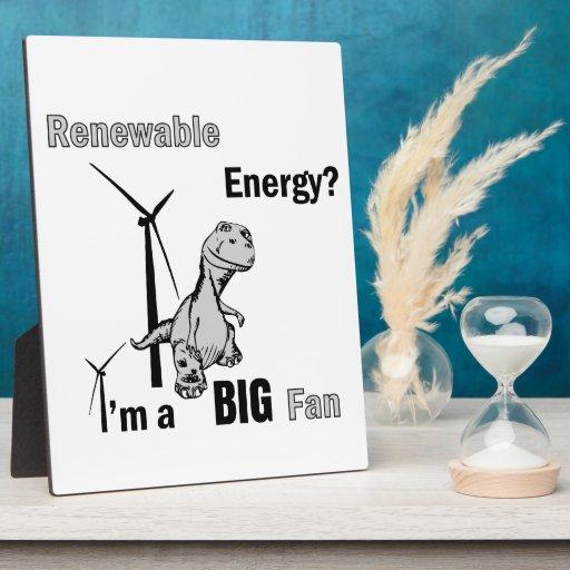 Fan grande de la energía renovable placas para mostrar