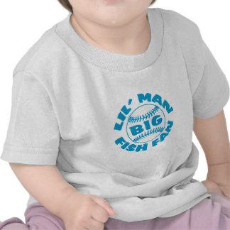 Fan GRANDE de los pescados del pequeño hombre Camisetas
