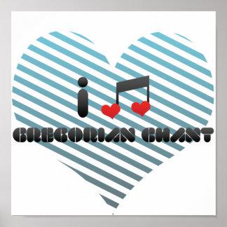 Fan gregoriana del canto poster
