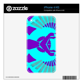 Fan Imprints Symmetrical Pattern Decal For iPhone 4