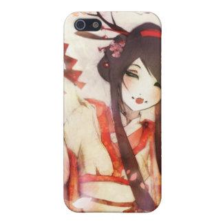 Fan japonesa del kimono del asiático del geisha 6 iPhone 5 protector