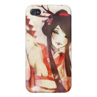 Fan japonesa del kimono del asiático del geisha 6 iPhone 4 protectores