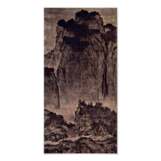 Fan Kuan - Travelers Among Mountains and Streams Poster