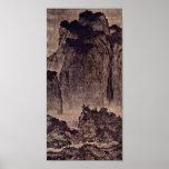 Fan Kuan - viajeros entre las montañas y las corri Poster