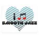 Fan lisa del jazz tarjeta postal