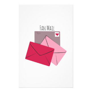 Fan Mail Stationery Design