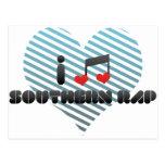 Fan meridional del rap tarjeta postal