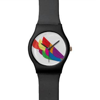Fan multicolora relojes de pulsera