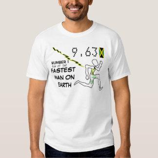 Fan No.1 del hombre más rápido en las camisetas de Camisas