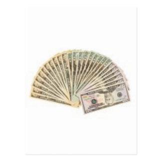 Fan of dollars postcard