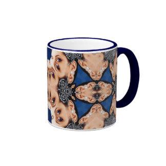 Fan of Eyes Ringer Coffee Mug