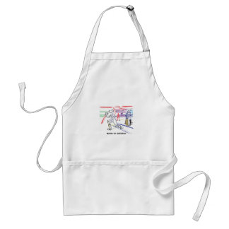 Fan of games of Cricket Adult Apron