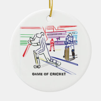 Fan of games of Cricket Ceramic Ornament
