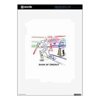 Fan of games of Cricket Decal For iPad 2