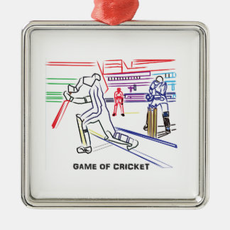 Fan of games of Cricket Metal Ornament