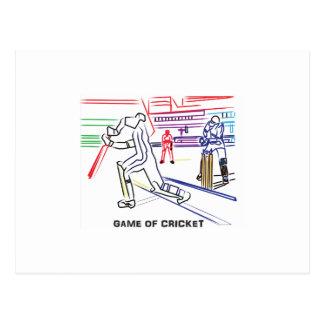 Fan of games of Cricket Postcard