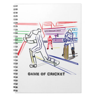 Fan of games of Cricket Spiral Notebook