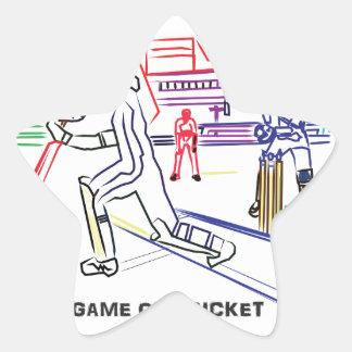 Fan of games of Cricket Star Sticker