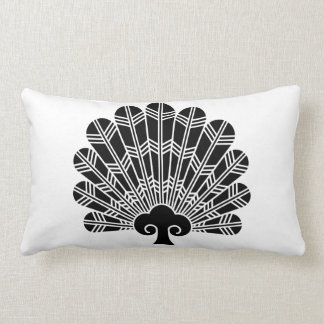Fan of hawk feathers lumbar pillow
