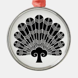 Fan of hawk feathers metal ornament