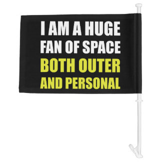 Fan Of Space Outer And Personal Car Flag