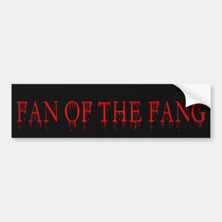 fan of the fang car bumper sticker