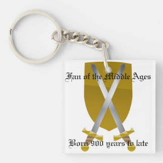 Fan of the Middle Ages Single-Sided Square Acrylic Keychain