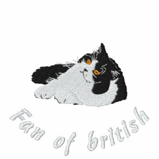 Fan off british to longhair, embroidery