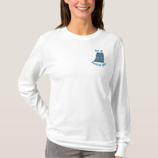 Fan off scottish fold embroidered long sleeve T-Shirt