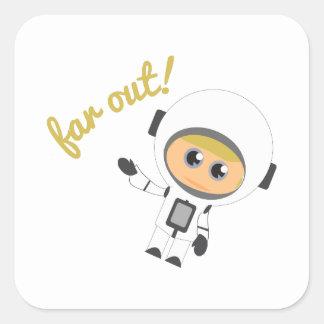 Fan Out! Square Sticker