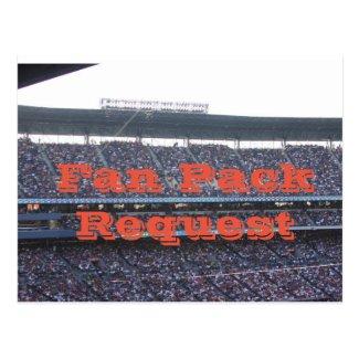 Fan Pack Request Postcard