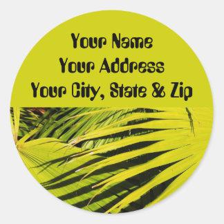 Fan Palms Classic Round Sticker