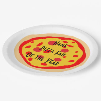 Fan personalizada de la pizza de las placas del platos de papel