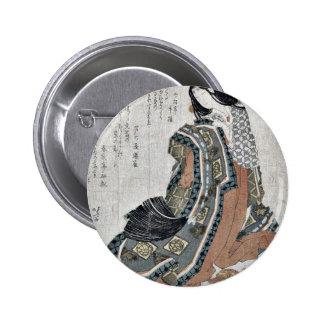Fan plegable del ciprés japonés por Katsushika, Ho Pin