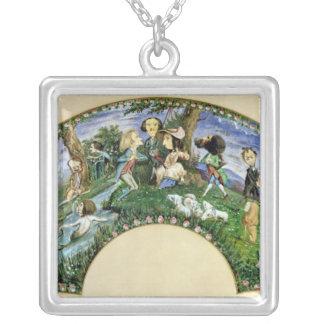Fan que representa George Sand y a sus amigos Colgantes Personalizados