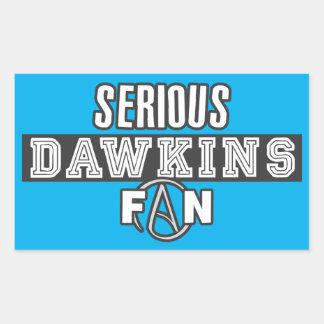 Fan seria de Richard Dawkins - el ateísmo Pegatina Rectangular