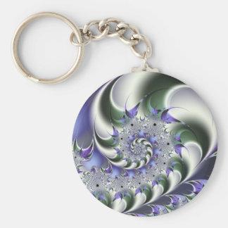 Fan Spiral Cute Cool Modern Abstract Art Basic Round Button Keychain