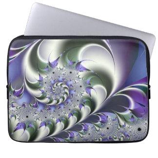 Fan Spiral Cute Cool Modern Abstract Art Laptop Sleeve