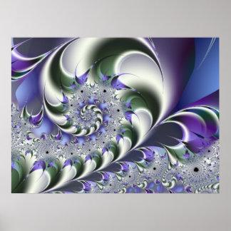 Fan Spiral Cute Cool Modern Abstract Art Poster
