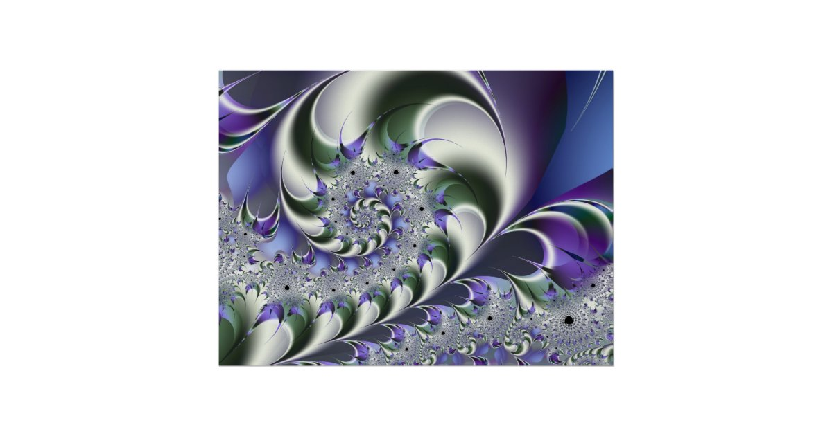 Fan spiral cute cool modern abstract art poster zazzle for Cute abstract art