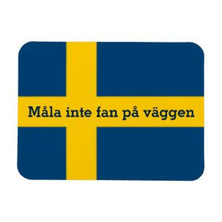 Fan sueca På Väggen de Måla Inte del tema de la Iman De Vinilo