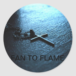 Fan To Flame Classic Round Sticker