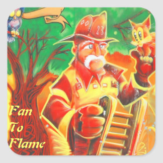 Fan To Flame Square Sticker