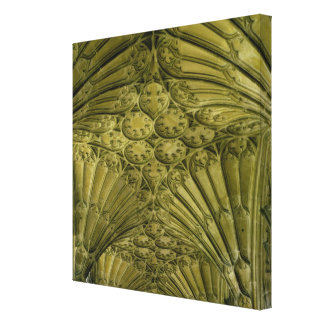 Fan vaulting in the cloister gallery wrapped canvas