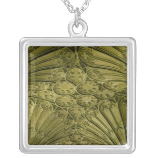 Fan vaulting in the cloister silver plated necklace