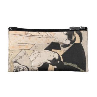Fan Vendor Kitagawa Utamaro japanese ladies Cosmetic Bags