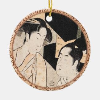 Fan Vendor Kitagawa Utamaro  japanese ladies Ceramic Ornament